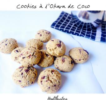 Cookies à l'Okara de Coco et Pépites de Chocolat