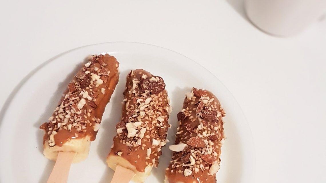 Recette Bananes au beurre de cacahuète