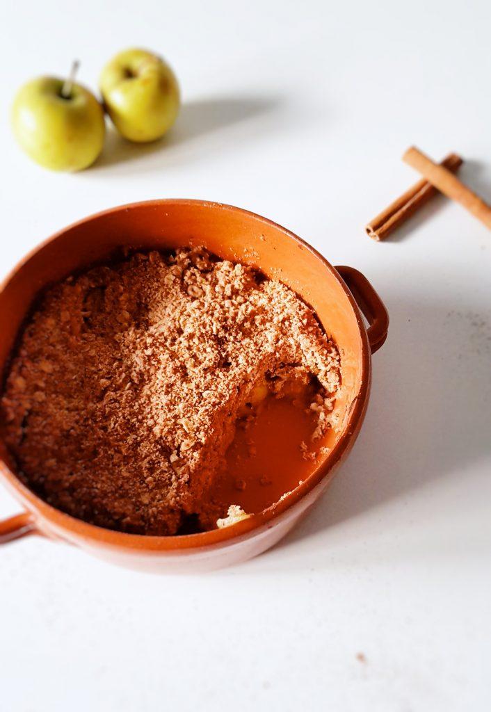 Crumble aux pommes cannelle healthy