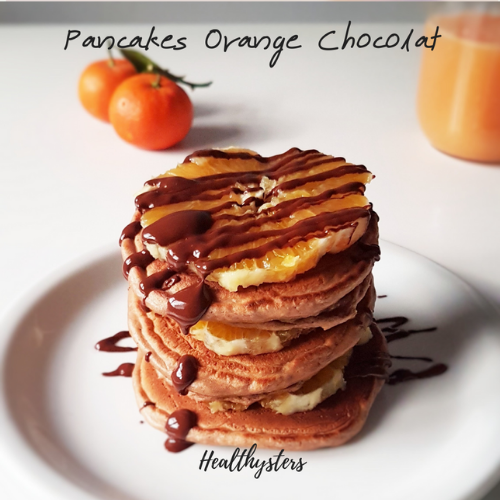 Pancakes Protéinés Orange Chocolat