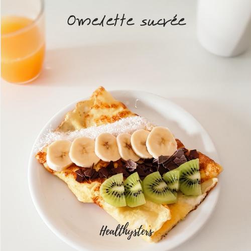 omelette sucrée petit déjeuner
