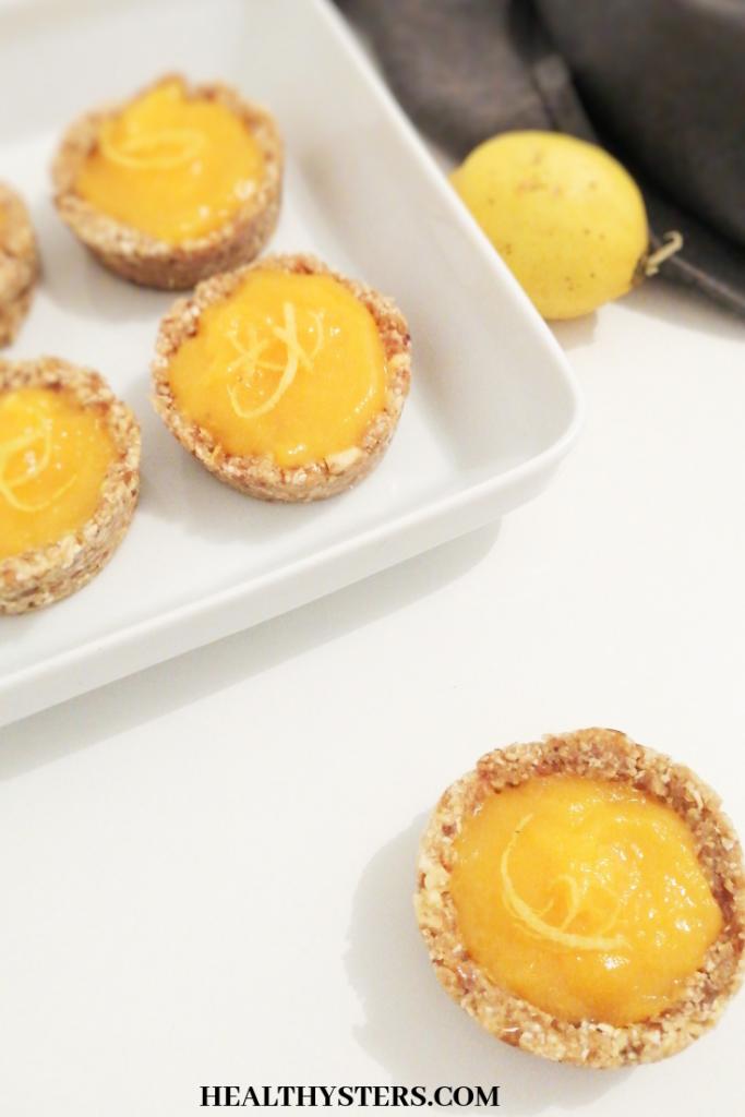tartelettes au citron healthy