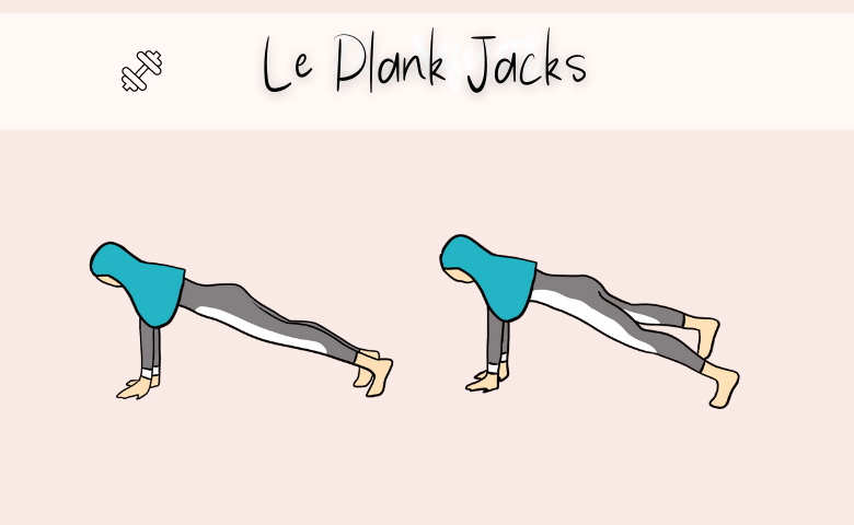 Plank Jacks accélérer perte de poids