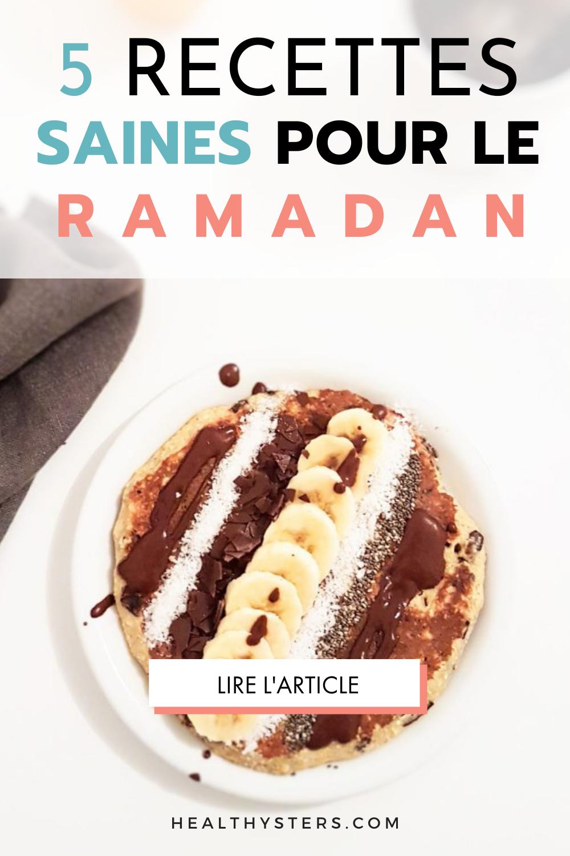 Pin recettes saines sahour ramadan